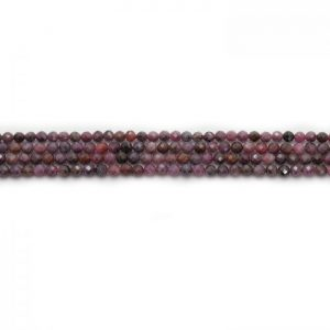 African Ruby 3mm faceted strand
