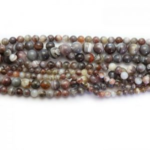Botswana agate strand smooth round stones group image