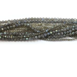 Labradorite strand faceted stones group image