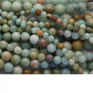 amazonite strand smooth round stones group image