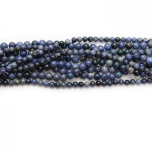 Dumortierite smooth round strands group photo