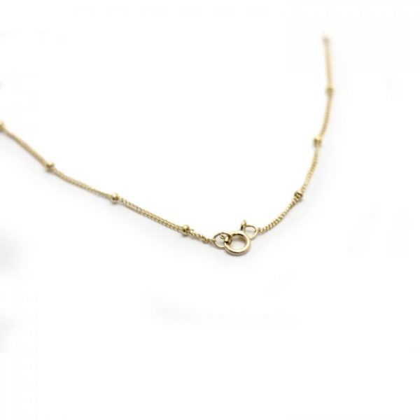 #13 Satellite curb chain Gold fill clasp view