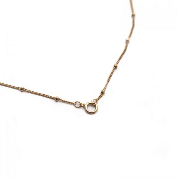 #14 Satellite curb chain rose gold fill clasp view