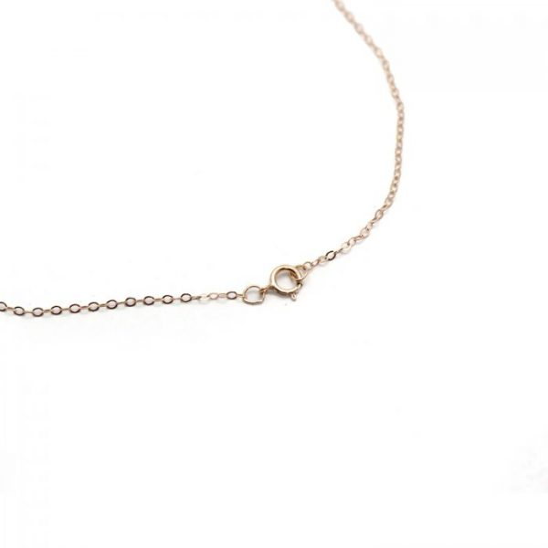 #15 Oval chain 14K Rose gold clasp view