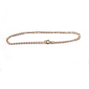 #15 Oval chain 14K Rose gold front view