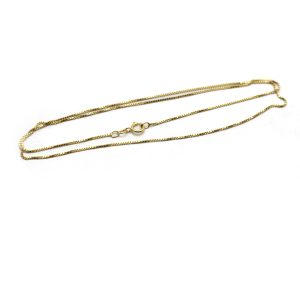 #16 Box chain 14k gold front view