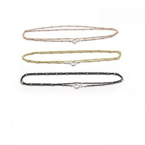 #17 Satellite oval chain 3 colors front view