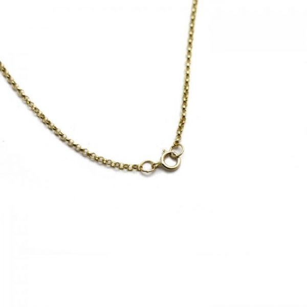 #20 Rolo chain 14k gold clasp view