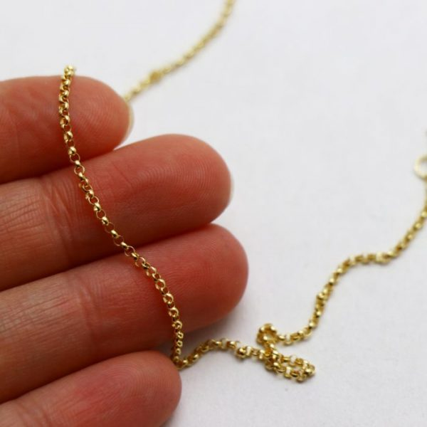 #20 Rolo chain 14k gold size view