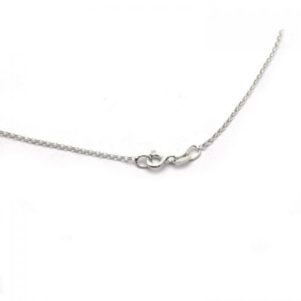 #21 Thin rolo chain Sterling Silver clasp view
