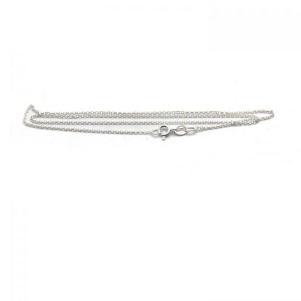 #21 Thin rolo chain Sterling Silver front view