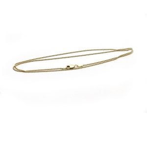 #3 ball chain 14k gold front view