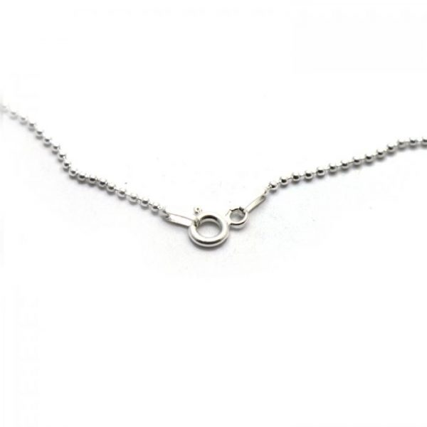 #4 ball chain S.S clasp view