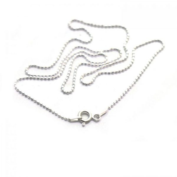 #5 Diamond ball chain S.S clasp view