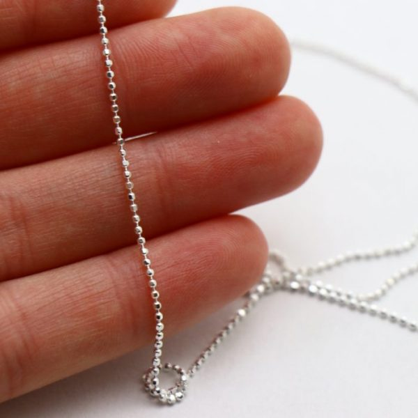 #5 Diamond ball chain S.S size view