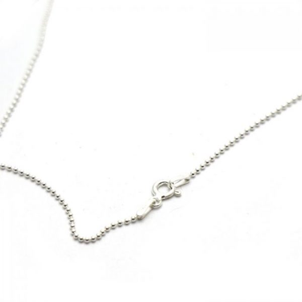 #6 Thin ball chain Sterling Silver clasp view