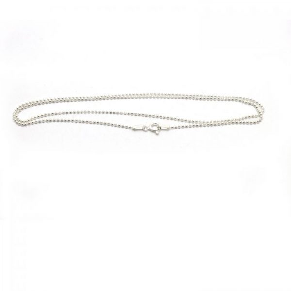 #6 Thin ball chain Sterling silver front view