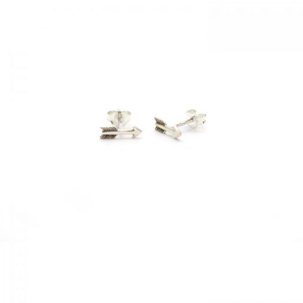 Sterling Silver Arrow stud earrings front view