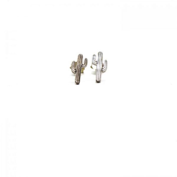 Sterling Silver Earring studs - Cactus