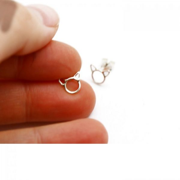 Sterling Silver Earring studs - Cat