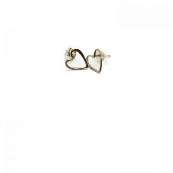 Sterling Silver Earring studs - Heart Outline