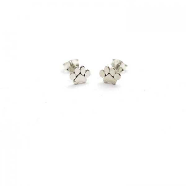 Sterling Silver Earring studs - Paw