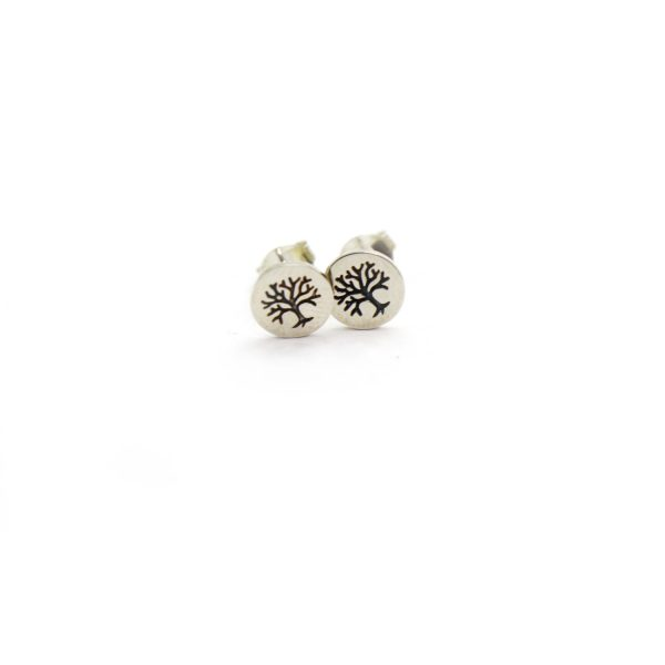 Sterling Silver Earring studs – Tree of life
