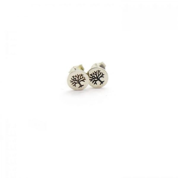 Sterling Silver Earring studs - Tree of life