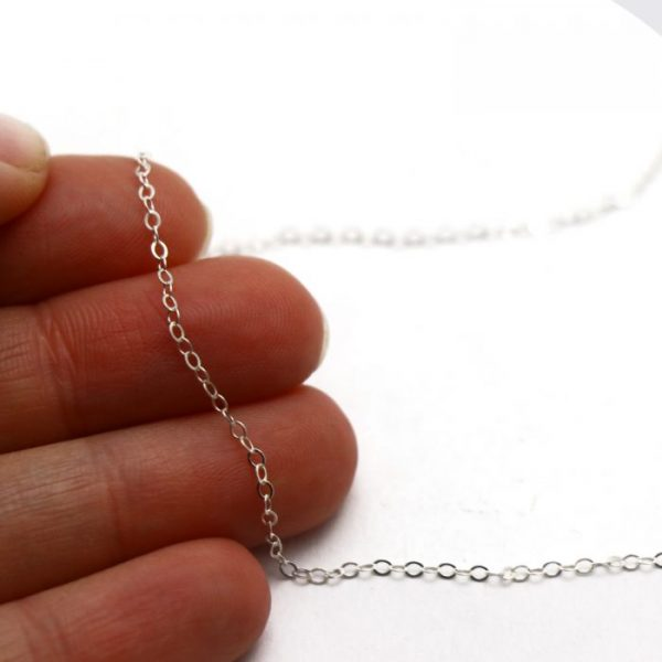 #19 Flat oval chain S.S size view