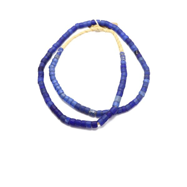 Russian Blue Trade Beads – Glass Beads strand 1 top view