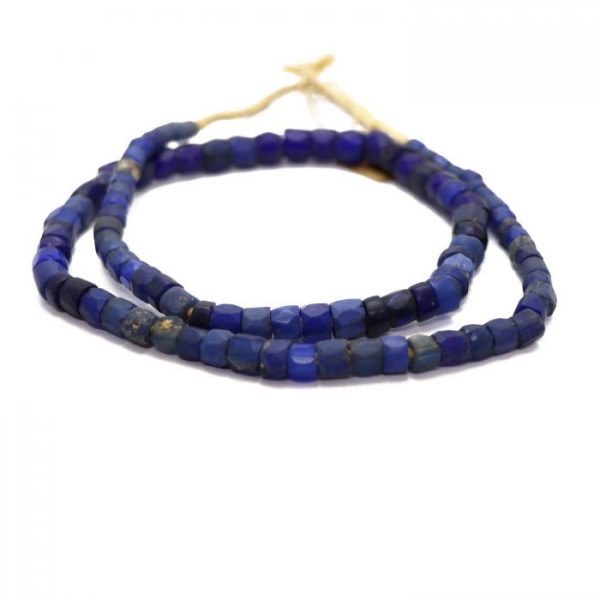 Russian Blue Trade Beads - Glass Beads strand 3 front view