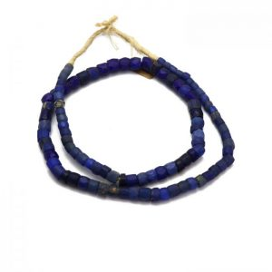 Russian Blue Trade Beads - Glass Beads strand 3 top view
