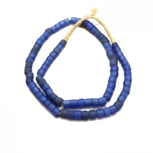 Russian Blue Trade Beads - Glass Beads strand 4 top view