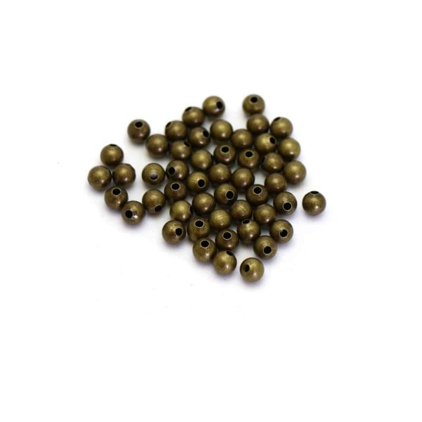 Antique gold metal balls