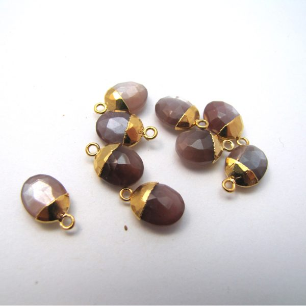 Chocolate Moonstone Group Gold