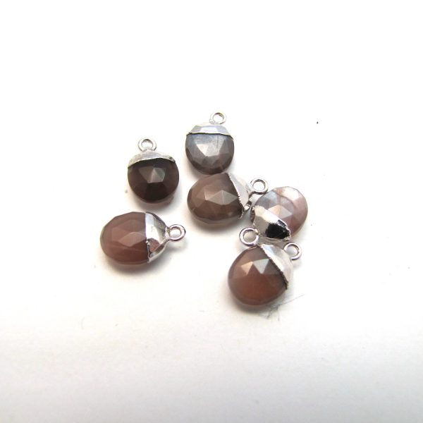Chocolate Moonstone Group Silver