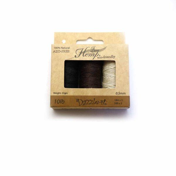 Hemp box 10lb 3 colors