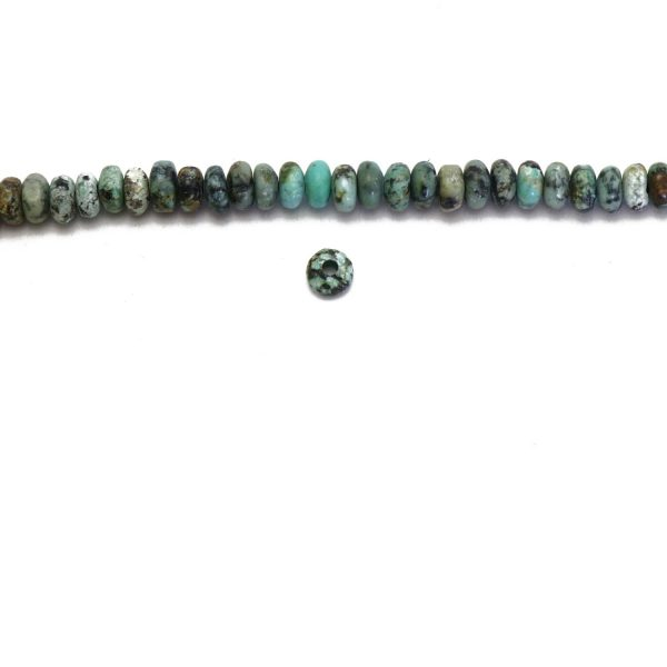 matte african turquoise rondelles