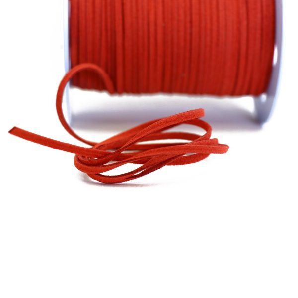 orangy red – 2.5mm ultra suede