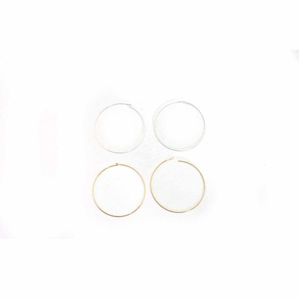 large BM gold ans silver hoops