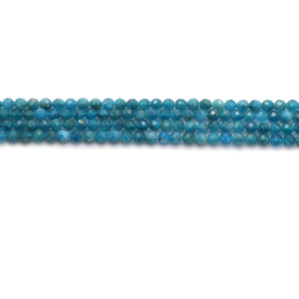Apatite faceted rounds 6mm strands