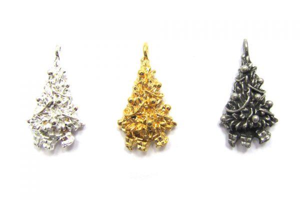 christmas tree charms base metal