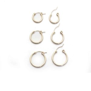 gold fill clip hoops 3 sizes