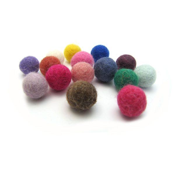 merino wool felt balls - medium