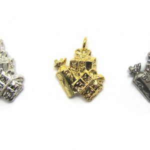presents holiday charms - available in 3 finishes