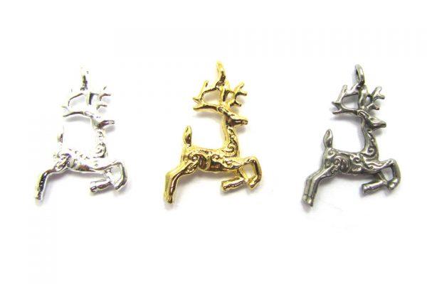 reindeer charms base metal