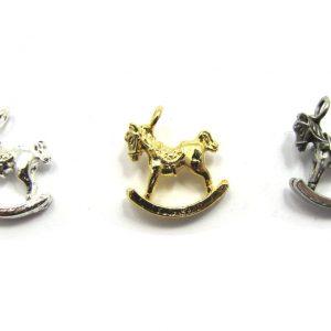 rocking horse charms base metal