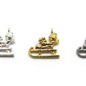sleigh holiday charms base metal