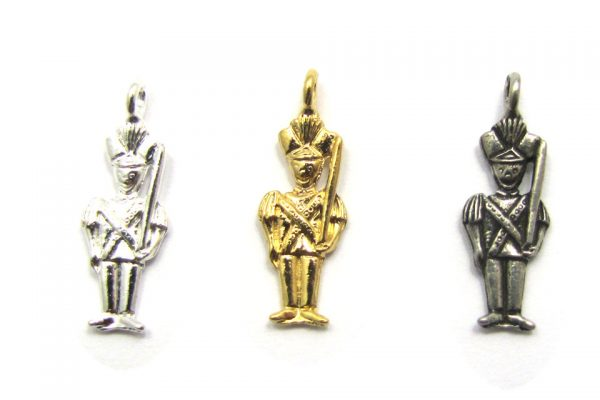 toy soldier charms base metal